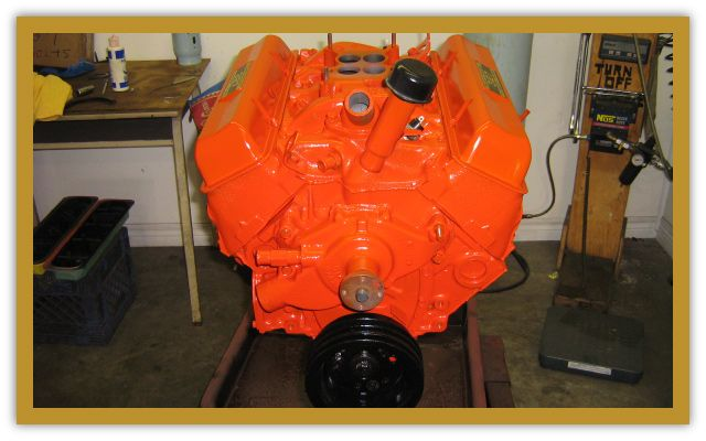 bright orange engine block 1